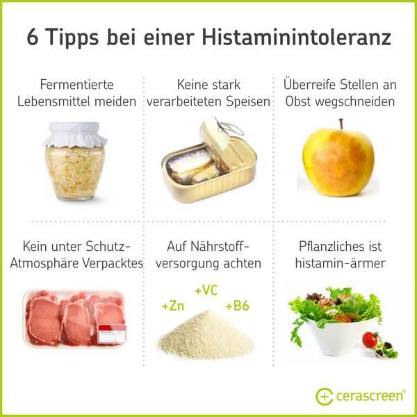 6 Tipps bei Histaminintoleranz